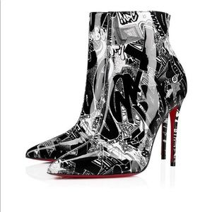CHRISTIAN LOUBOUTIN GRAFFITI BOOTS (tags attached)